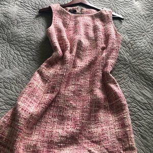 Talbots ....... tweed pink retro style dress
